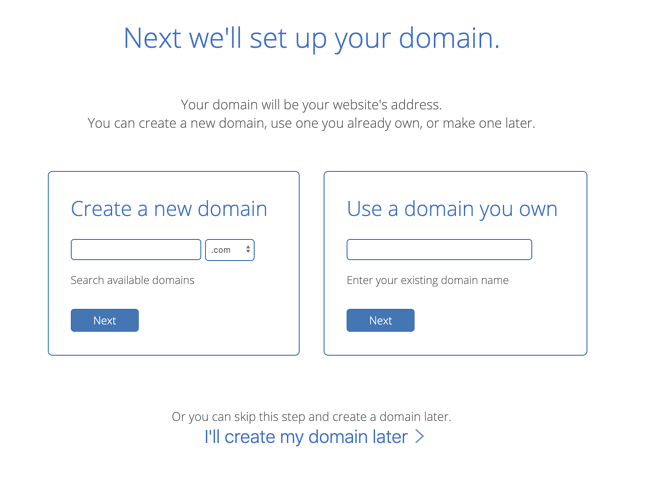 Bluehost signup page WordPress website