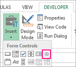 Excel checkboxes