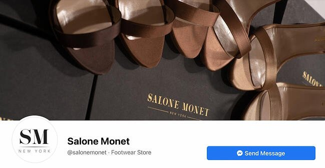 Facebook Page cover from Salone Monet's FB Page